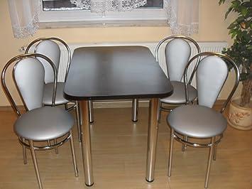 design tavolo da pranzo tavolo bistro tavolo wenge con cromo base ... - Tavolo Soggiorno Wenge 2