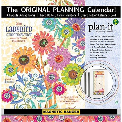 The LANG Companies WSBL Ladybird 2018 Plan It Plus Academic Wall Calendar (18997009177)