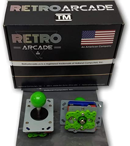 Classic Arcade Joystick Ball Top GREEN by RetroArcade.us