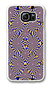 VUTTOO Rugged Samsung Galaxy S6 Edge Case, Optical Illusion Circles Hard Clear Case Cover Protector for Samsung Galaxy S6 Edge
