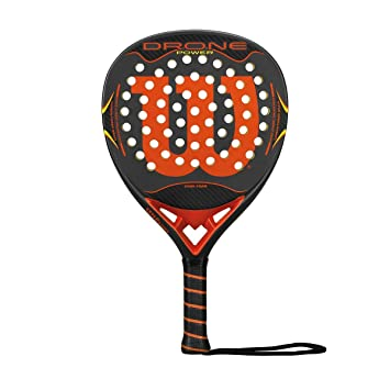 Wilson Drone Power Paddle RKT Gyor - Pala de pádel, Color Gris/Naranja, Talla única