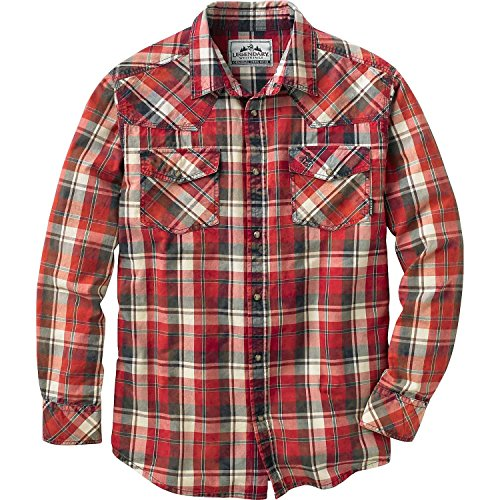 Legendary Whitetails Men's Outlaw Western Shirt Patriot Plaid