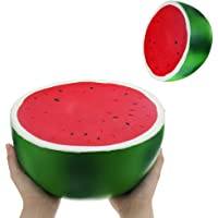 BEESCLOVER Super Large Squishy Half Watermelon Shape Slow Rising Toy Squeeze Stress Relieve Toy for Children Adult 25cm