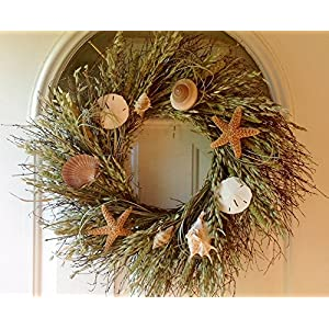 61jaNKE1mZL._SS300_ 70+ Beach Christmas Wreaths and Nautical Wreaths
