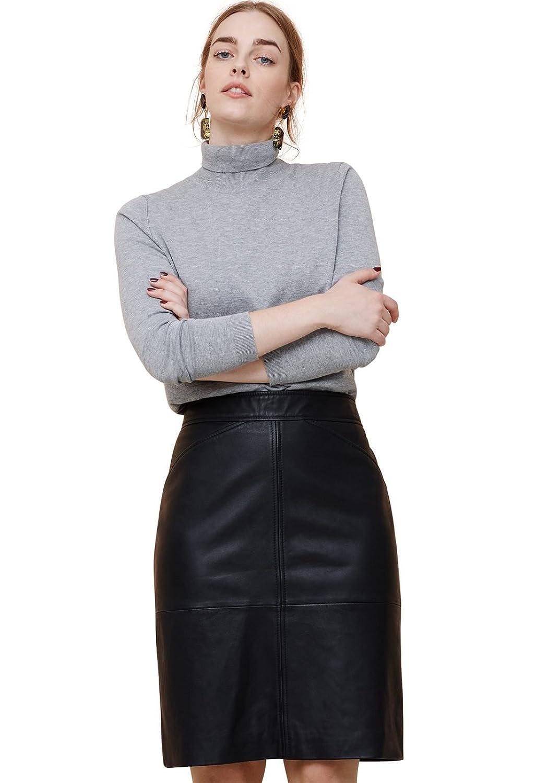 VIOLETA (Plus Size) - Röcke Lederrock