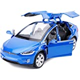 Toy Car Alloy Pull Back Cars with Sound and light Kids Toys 1:32 Scale model X 90 (Blue)