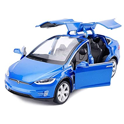 Amazon Com Tesla Toy Car Alloy Pull Back Cars With Sound And Light