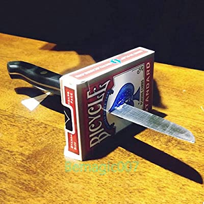 Card Tricks Magic Knife Thru Metal - Miraculous Penetration 2.0: Toys & Games