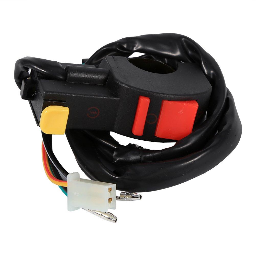 Interruttore luce antinebbia moto 4 vie 7/8'Pulsante manubrio corno accensione interruttore accensione/spegnimento