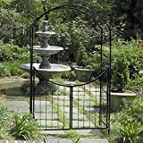 Gardman Savannah 8-ft. Steel Arch Arbor with Gate by World Source Partners LLC
