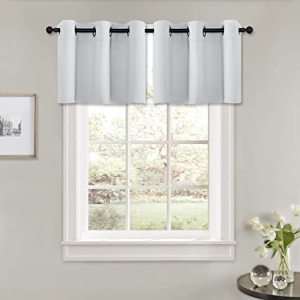 Pony Dance Basement Window Blinds 42 X 18 Greyish White Double Pieces Kitchen Decor Shades Curtain Valances Set Match With Drapes Tiers For