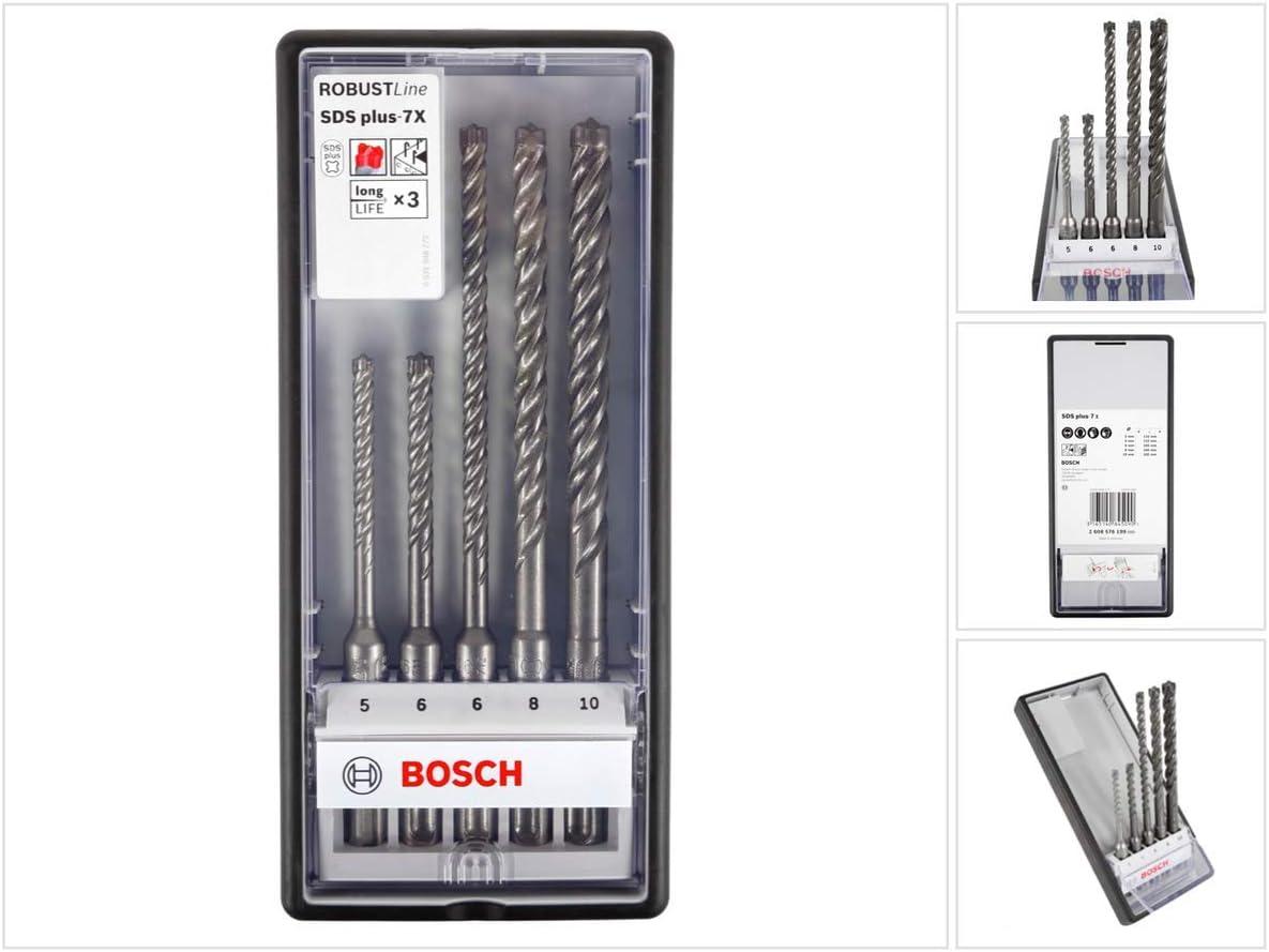 Accesorios para Martillo perforador Bosch Professional 260925C078 Broca SDS Plus hormig/ón Longitud 165 mm /Ø 6 mm
