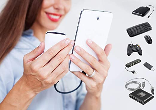 PRO OTG Power Cable Works for Videocon Infinium Z55 Krypton with Power Connect to Any Compatible USB Accessory with MicroUSB
