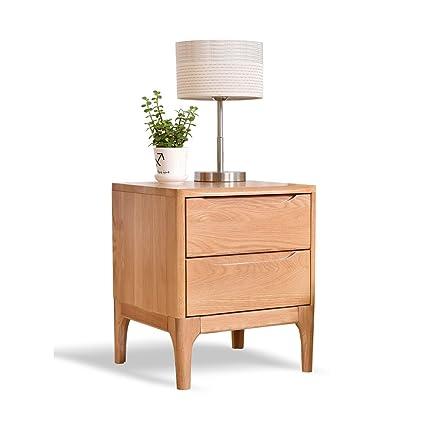 6addaaf0dbed Amazon.com: PM-Nightstands Solid Wood Bedside Cabinet Bedroom ...