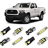BRISHINE White LED Interior Light Kit for Toyota Tacoma 2016 2017 2018 2019 2020 Super Bright 6000K Interior LED Bulbs Packag