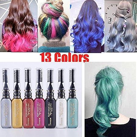 13pcs/set de una sola vez color de pelo pelo temporal no ...