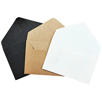 raincy 120 pcs invitation envelopes gift card envelope business card envelopes with kraft black white 4 - Business Card Envelopes
