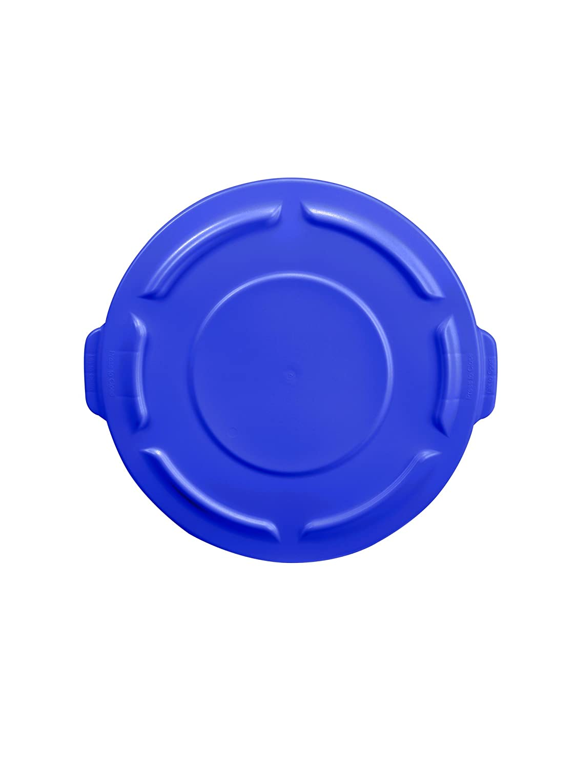 Rubbermaid Commercial 1779700 BRUTE Heavy-Duty Round Waste/Utility Container, 10-gallon Lid, Blue