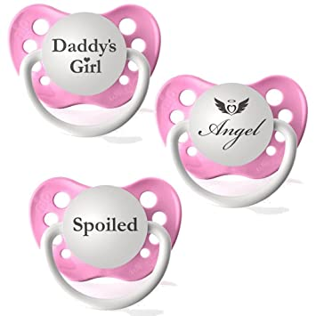 Amazon.com: Chupetes personalizados Daddy s Girl, Angel ...
