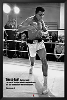 muhammad ali framed poster 26 x 38in - Muhammad Ali Framed Pictures
