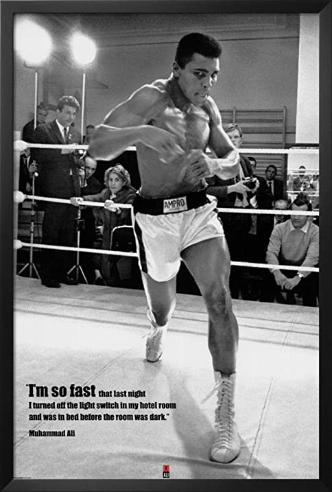 Amazon.com: Muhammad Ali Framed Poster 26 x 38in: Boxing Framed ...