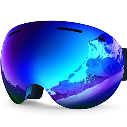 7627137119 ZIONOR Lagopus X5 Ski Snowmobile Snowboard Snow Goggles with UV400  Protection Anti-fog Oversized Spherical