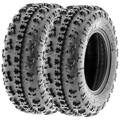 SunF 22x7-11 & 20x10-9 Knobby Sport ATV Tires 6 PR A027 (Full set of 4) by SunF (Image #2)