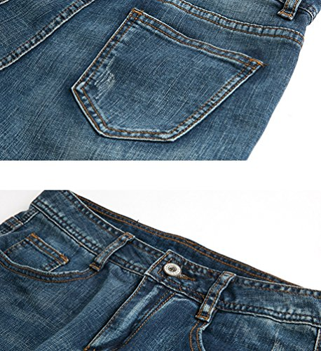 Bleu En Carotte ZhiYuanAN Denim Jeans Taille Cropped Femme Haute Pantalons Stretch Pantalon I4qE1wPxq