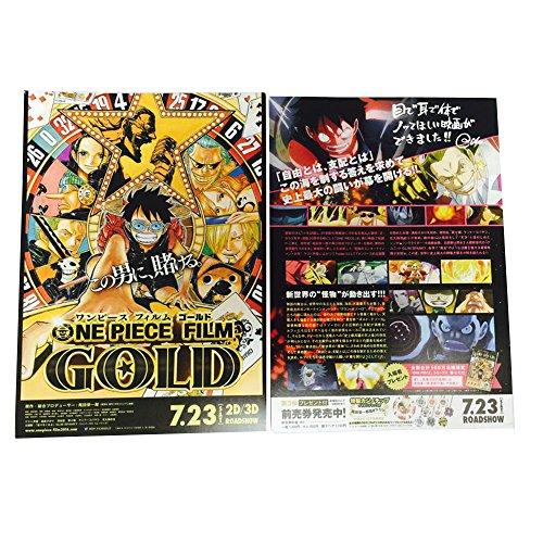ONE PIECE FILM GOLD Luffy Zoro Nami Usopp Sanji Anime Flyer Movie Mini Poster JAPAN