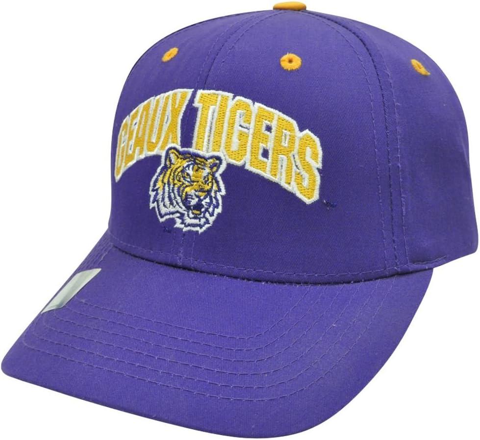 NCAA LSU Louisiana Geaux tigres troje construido Velcro ajustable ...