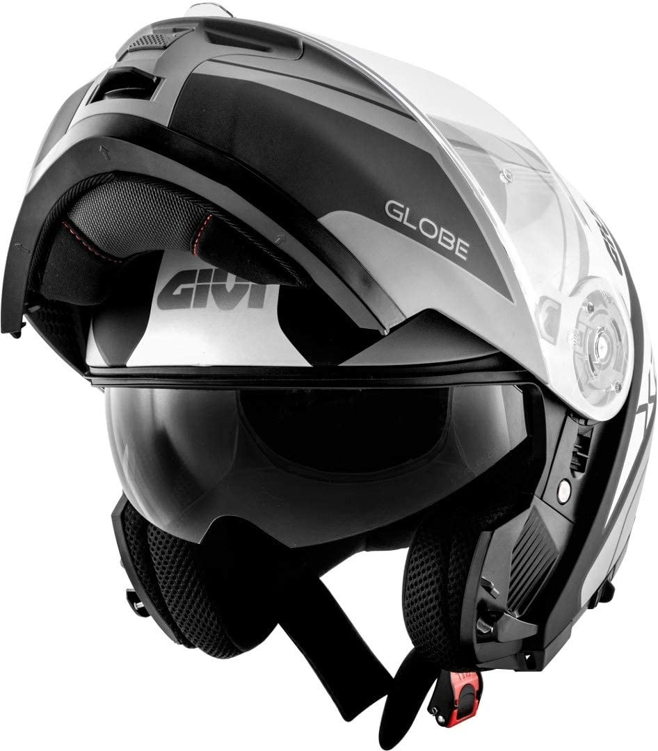 HX21FGBBT56 Givi Hps Hx21 Flip-Up Helmet Challenger Graphics Globe Matt Black//Titanium Size 56//S
