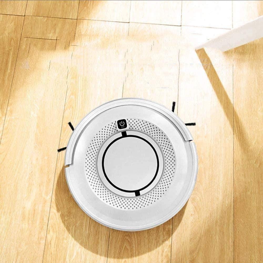 Automatique Intelligent robotique Balayeuse, Aspirateur Robot ménage Nettoyage Automatique Deux-en-Un Robot de Balayage White