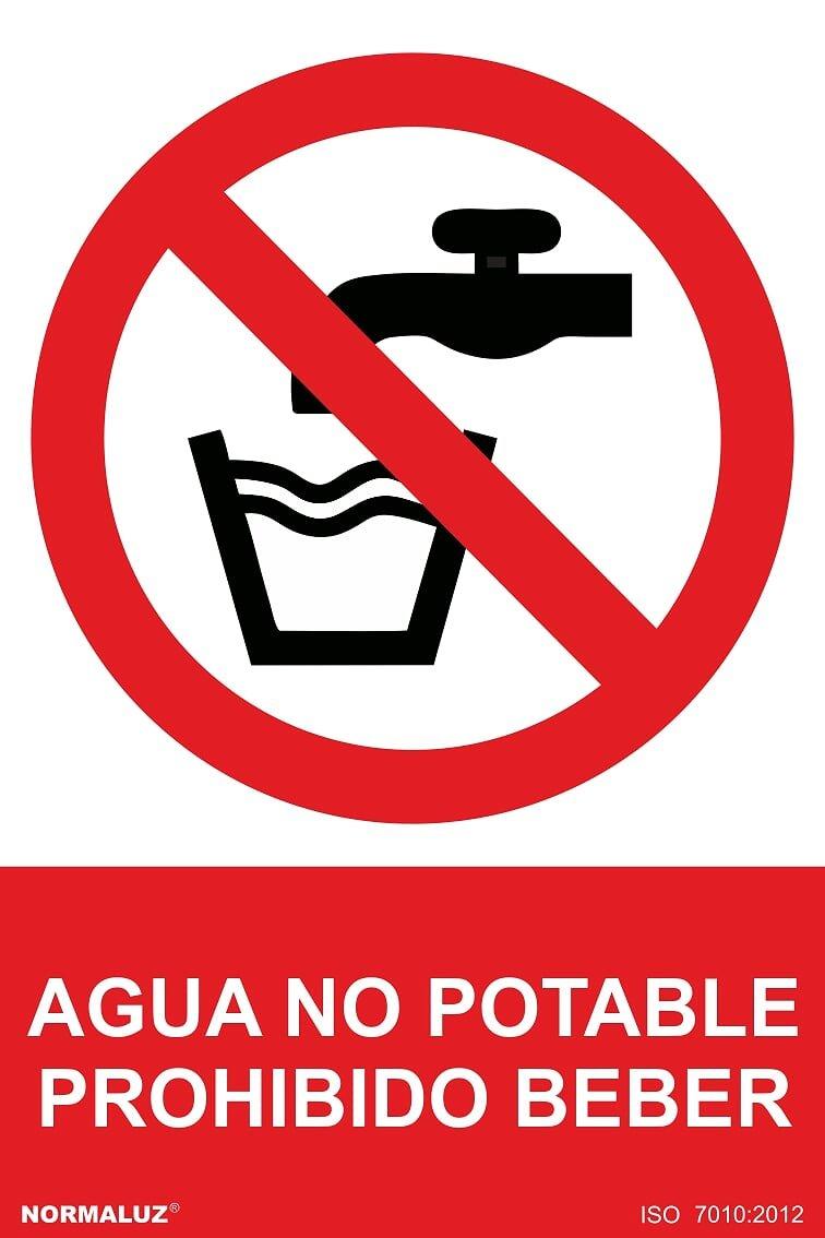Normaluz RD40016 - Señal Agua No Potable Prohibido Beber PVC Glasspack 0,7 mm 21x30 cm
