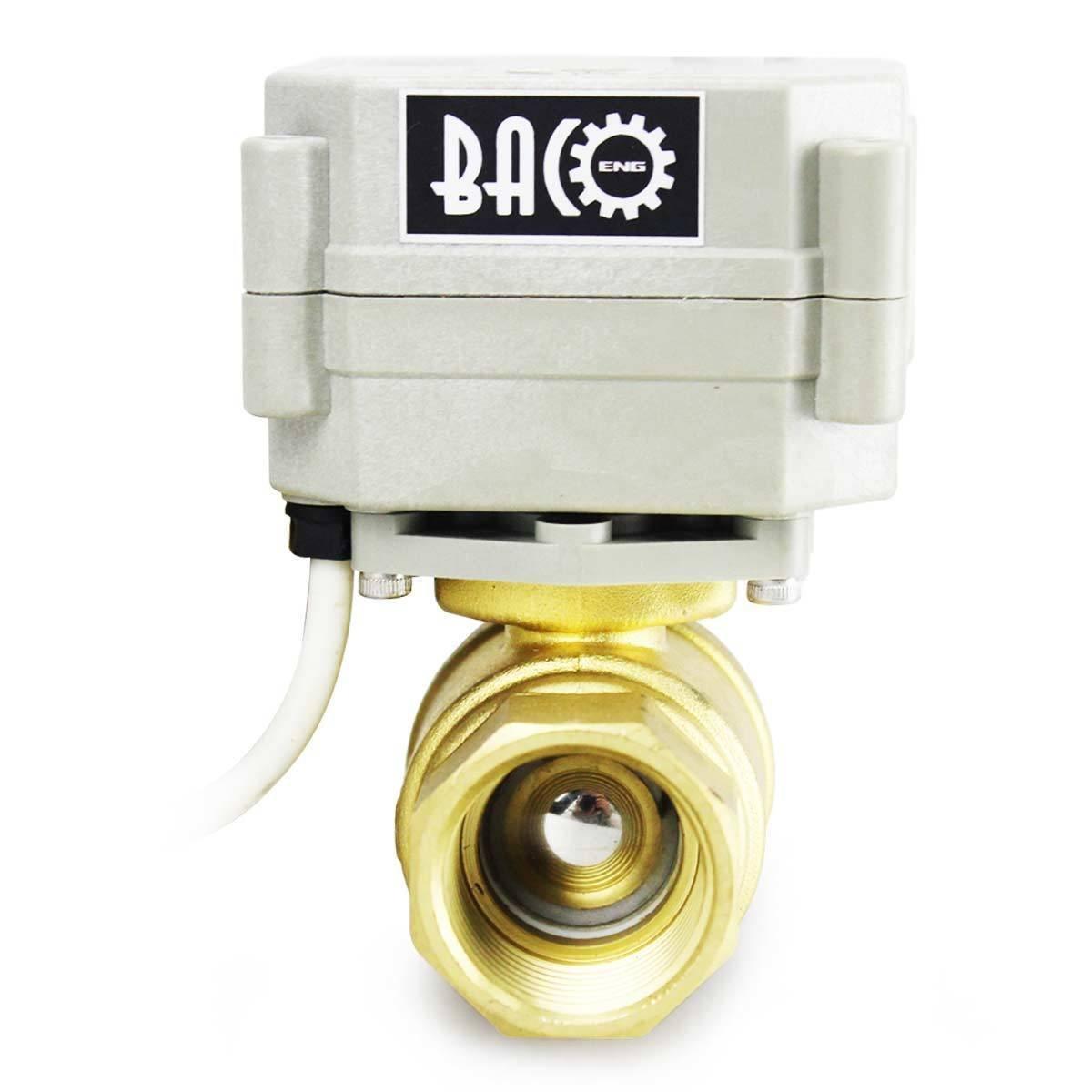 BACOENG AC110-230V 2 Wege 3//4 Messing CR502 Motorkugelhahn Elektrische Zonenventil
