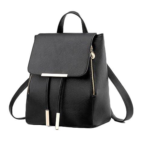 Amazon.com | Fanova Backpack PU Leather Mochila Escolar School Bags For Girls Travel Bags+Clutch | Backpacks