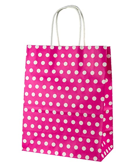 Horror-Shop Bolsa de Regalo de Color Rosa Lunares Grandes ...