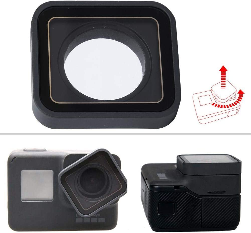 Topiky Replacement Lens Protective Cover Cap for Gopro Hero 5 Hero 6 Hero 7 Black Action Camera Accessory
