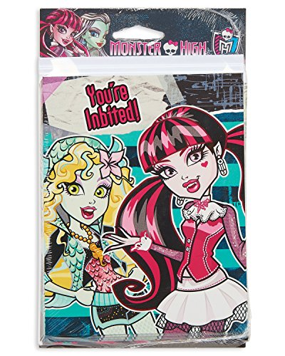 American Greetings Monster High Invite and Thank-You Combo Pack (8 Count) -