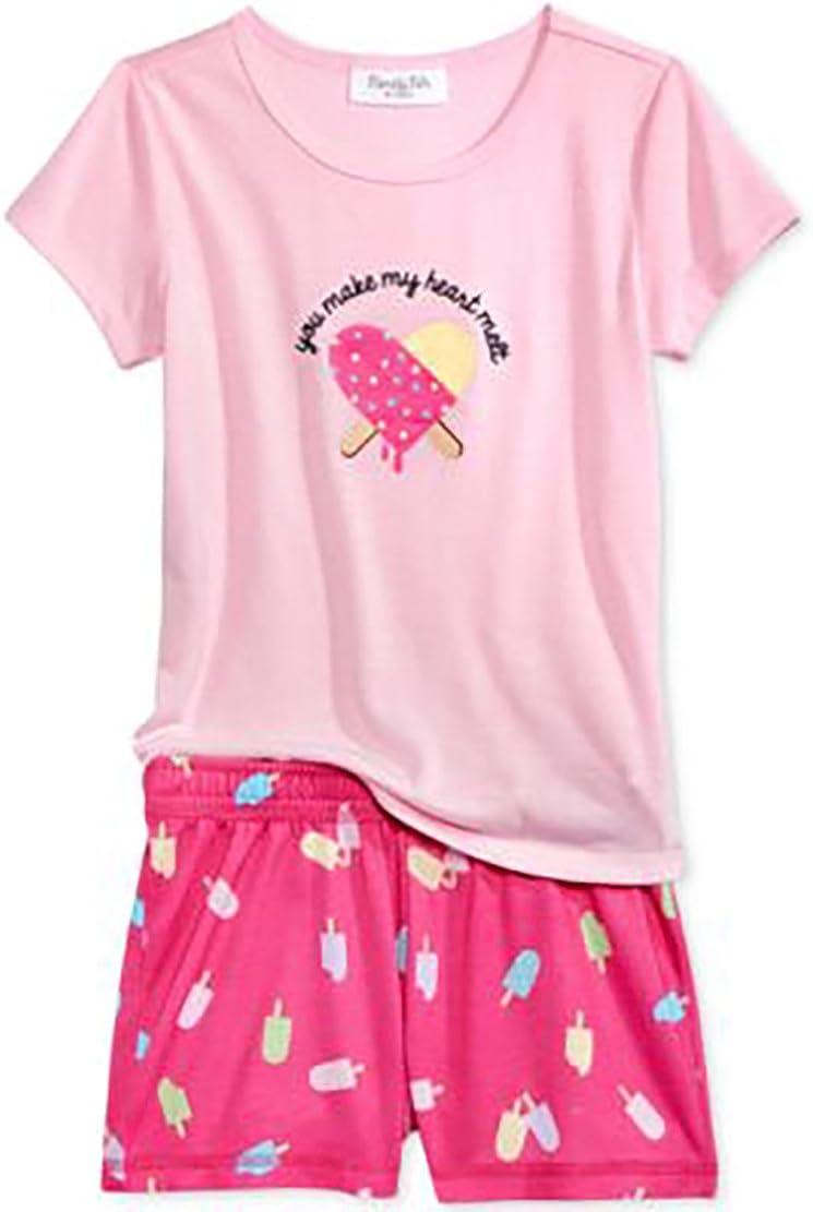 6//7 Family PJs 2-Piece You Make My Heart Melt Graphic Sleepwear Set Pink