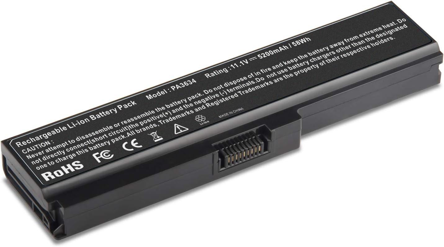 ARyee PA3634U-1BRS Battery Compatible with Toshiba PA3634U-1BAS PA3634U-1BRS PA3635U-1BAM PA3635U-1BRM PA3636U-1BRL PA3638U-1BAP PA3728U-1BRS M300 U400 U500 U405 Series(5200mAh 11.1V)