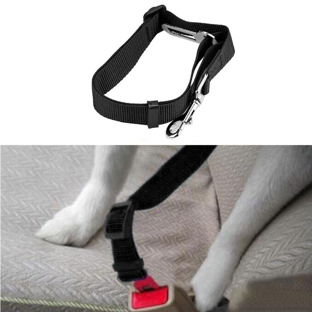 Letdown Pet Collars Safety Vehicle Car Seat Belt Seatbelt Lead Clip Pet Cat Dog (A)