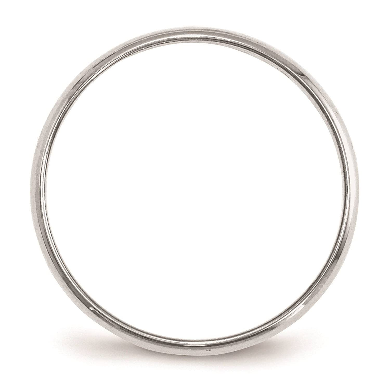 Full /& Half Sizes 14k White Gold 2mm Light Half Round Wedding Ring Band Size 4-14