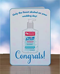 Funny COVID, Congrats, Wedding Card, Only the Finest Alcohol on Your Wedding Day, Blank Inside, Envelope Included