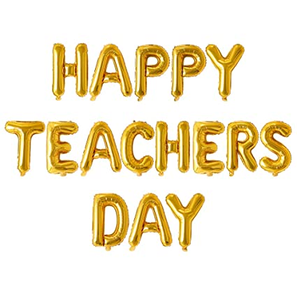 Rozi Decoration Happy Teachers Day Foil Balloon Set (Pack of
