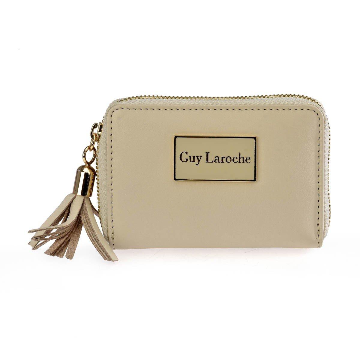 Guy Laroche Monedero con cremallera de mujer 6753 (Color: Amarillo): Amazon.es: Zapatos y complementos