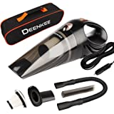 Deenkee Car Vacuum Cleaner, DC 12V High Power with Stronger Suctio, Portable Handheld Auto Vacuum Cleaner for Car for Wet & Dry Use, Carrying Bag, HEPA Filter (Black)