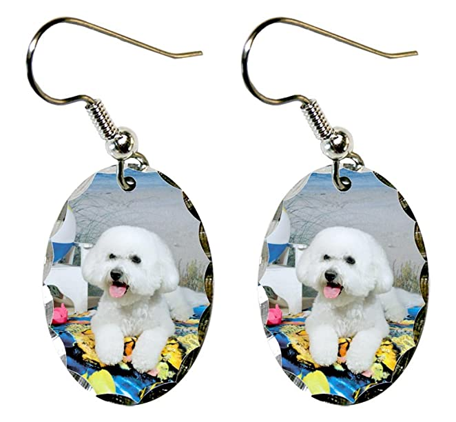 Bichon Frise Dog Earrings