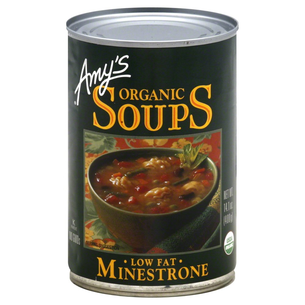 Amy's Organic Minestrone Soup, 14.1-Ounce Cans (Pack of 24)