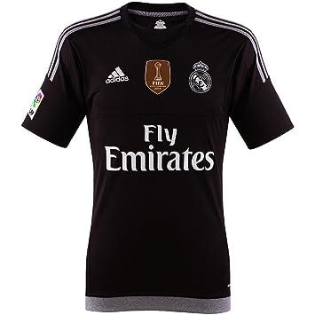 adidas - Camiseta de Portero Real Madrid CF 2015-2016  Amazon.es ... a3ee958cc8339