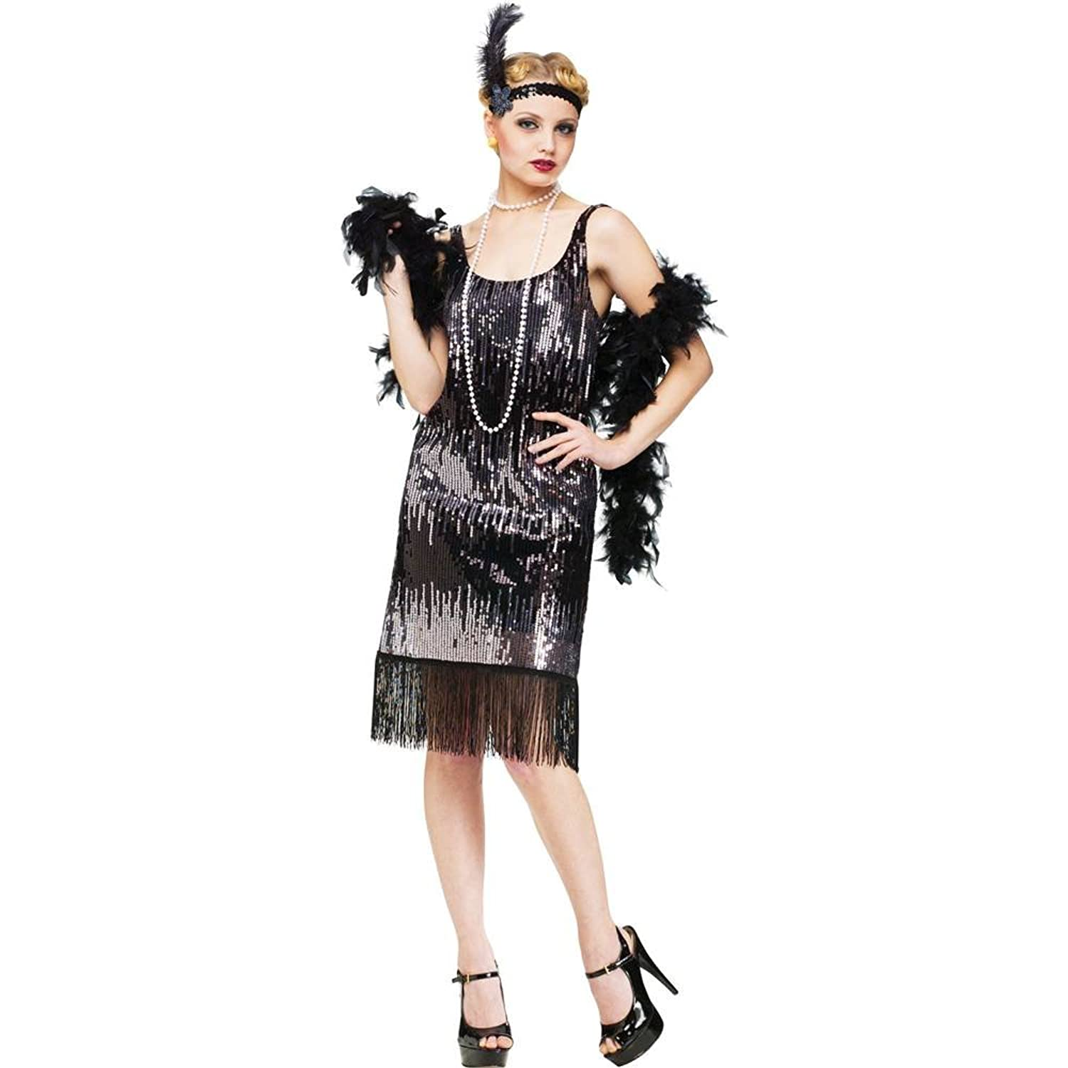 Amazon.com: Jazz Baby Flapper Adult Costume: Clothing